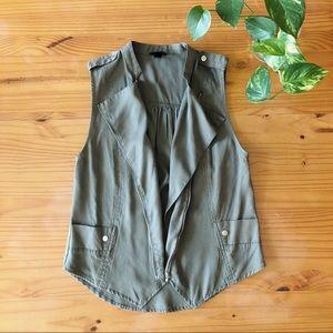 Mossimo Olive Green Tuxedo Utility Vest